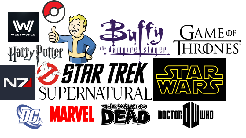 Examples of popular media franchises
